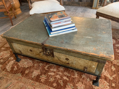 Painted Trunk Coffee Table