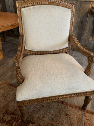 Carved Italian Oversized Arm Chair (close)