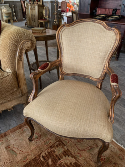 Pr. French Arm Chairs