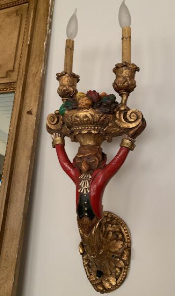 Venetian Monkey Candelabra (close)