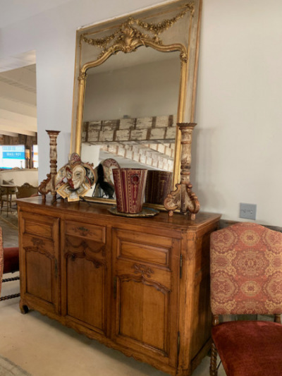French Provincial Walnut Sideboard Early 19th C.