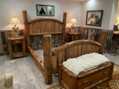 Cal King Log Bed Frame