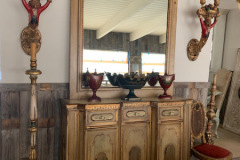 Painted Console Cabinet ~ Venetian Monkey Candelabras