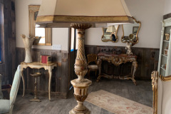 Tall Lamp with Parchment Shade