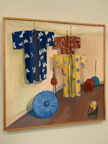 """Oil """"Hanging Kimonos"""""""