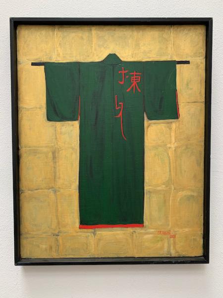 """Oil """"Green Kimono"""""""