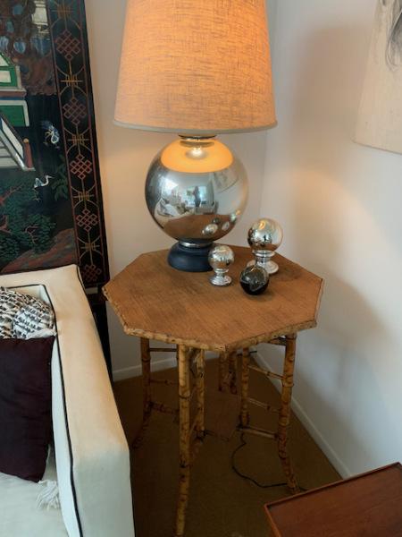 Octagonal Chinoisiere Table ~ Mercury Lamp