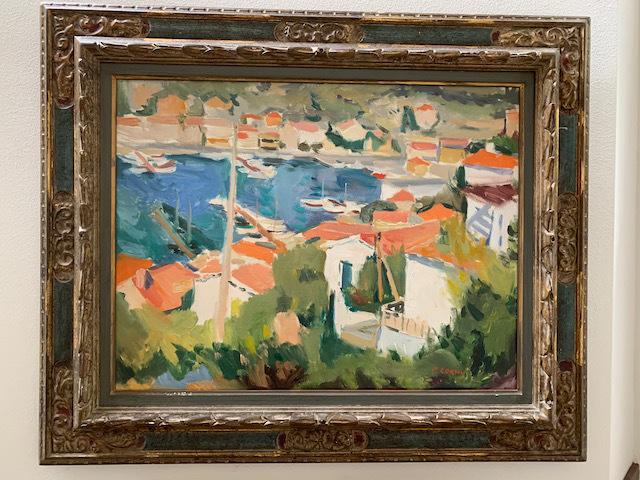"""Oil """"Seascape"""" by P. Cornu"""