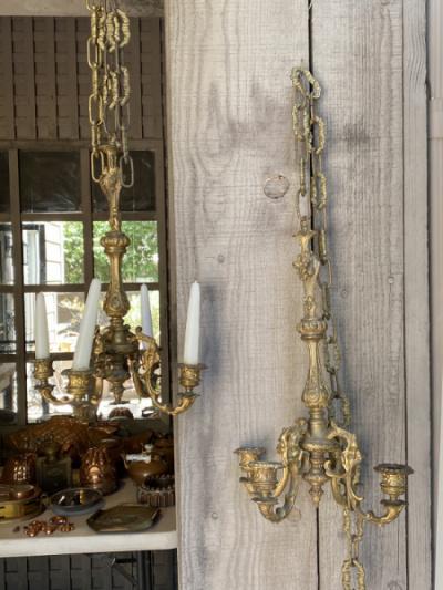 Pr. Brass Candeliers