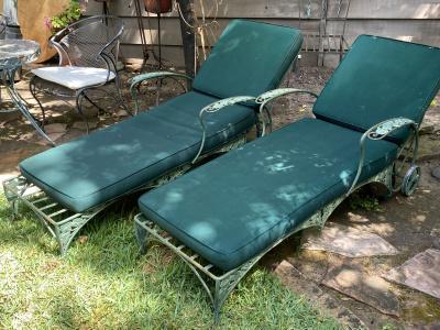 Vintage Patio Chaises