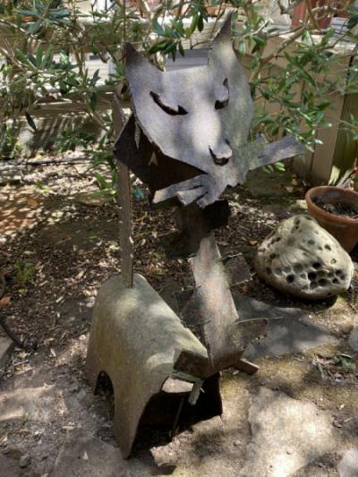 "Metal ""Cat"" Sculpture"