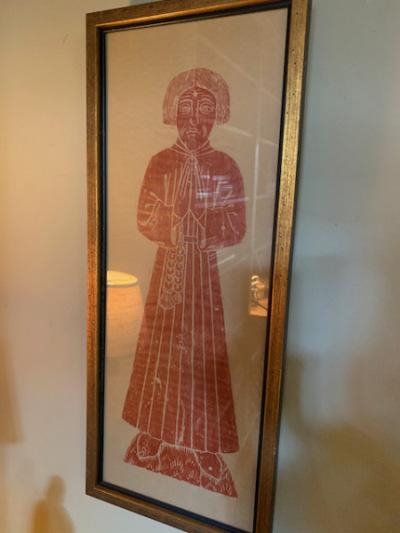 Framed Woodcut