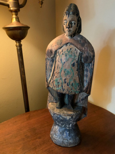 Wood Carved Asian Soldier