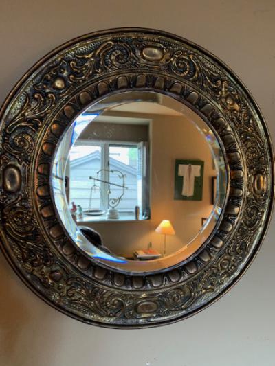 Decorative Brass Framed Mirror