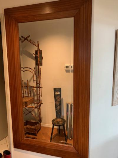 Oversized Wood Framed Mirror