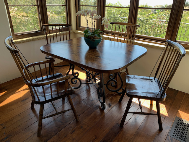Dinette Table with Windsor Chairs