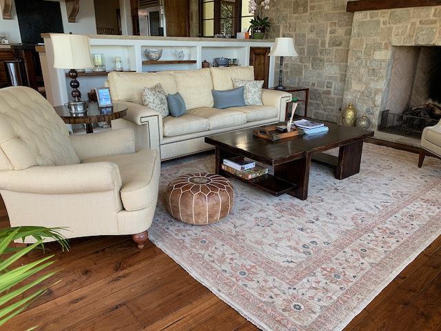 Geometric Plane Coffee Table ~ Wool Area Rug