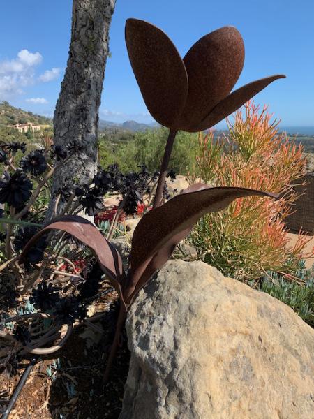 "Metal Garden Sculpture ""Flower"""