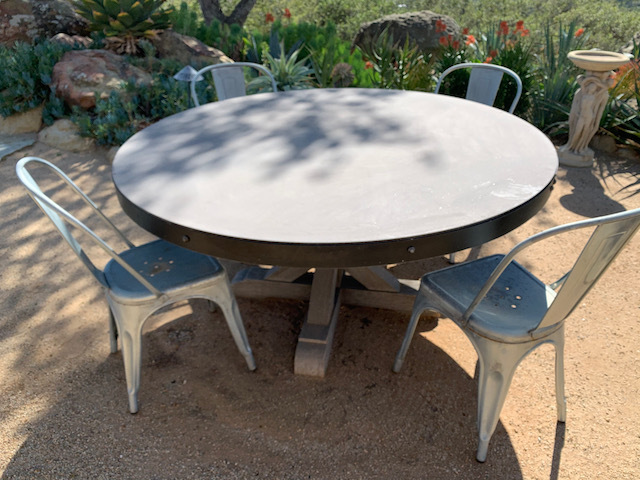 Cement Patio Table ~ Metal Patio Chairs