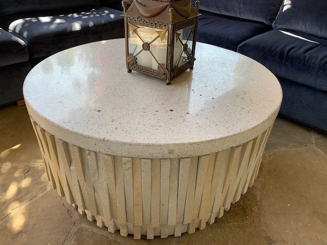 Terrazo and Stone Coffee Table