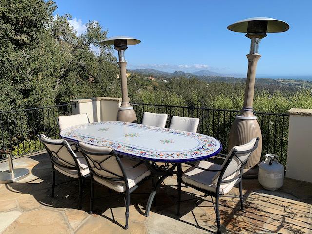 Custom Oval Ceramic Table - Positano