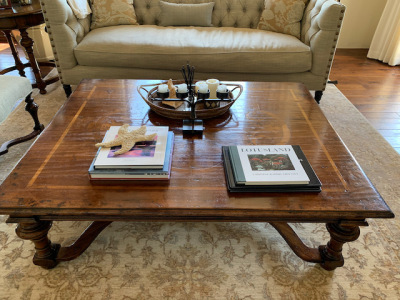 Coffee Table with Inlaid Design