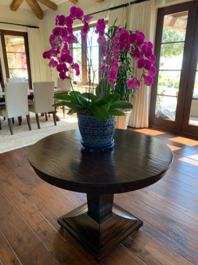 Mahogany Round Pedestal Table by Henredon
