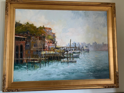 """Oil by Brent Jensen """"Italian Village"""""""