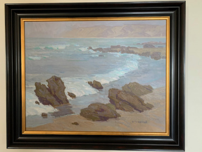 """Oil by Eric Merrell """"Seascape"""""""