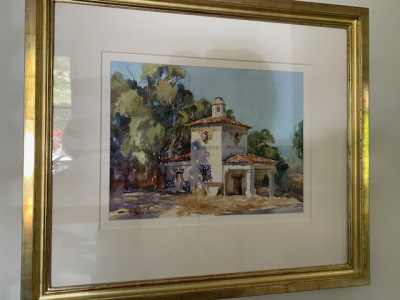 """Watercolor by Gil DiSicco """"Ellwood Station"""""""