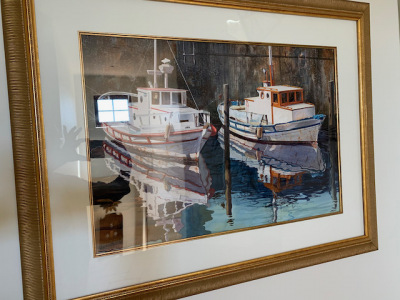 "Oil by Brent Jensen ""Sailboats"""