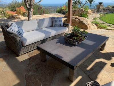 Wicker Patio Sofa ~ Coffee Table