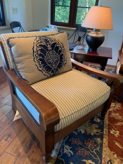 Oversized Plantation Style Armchair