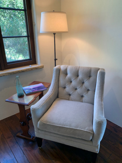Upholstered Pale Gray Chair