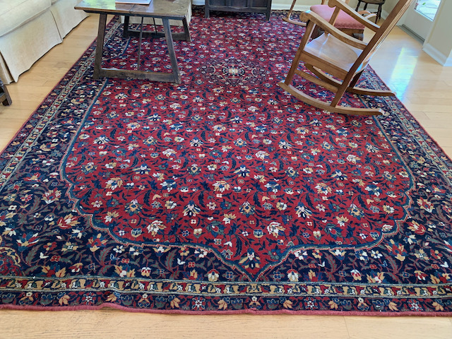 "Persian Wool Rug, 1920's ~15'3"" x9'5"""
