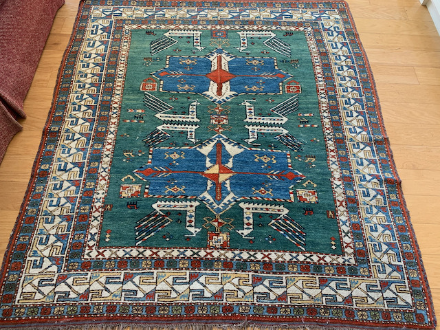 """Middle Eastern Area Rug ~6' x 5'2"""""""