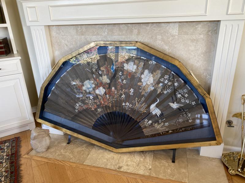 Framed Antique Japanese Fan