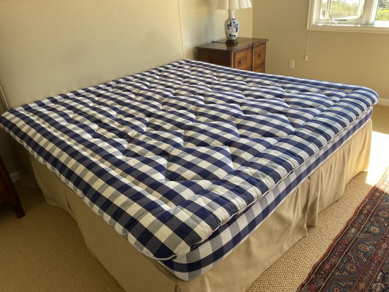 Upholstered Headboard ~ Matching Custom Bedskirt