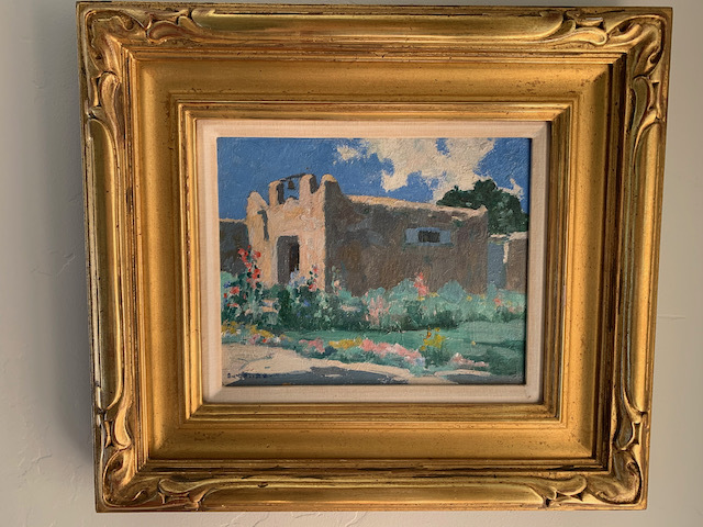 """Irving Couse """"Old Chapel in Taos"""" (1920)"""