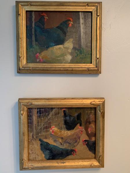 "Oils by Meredith  Brooks Abbott ""Chickens"""