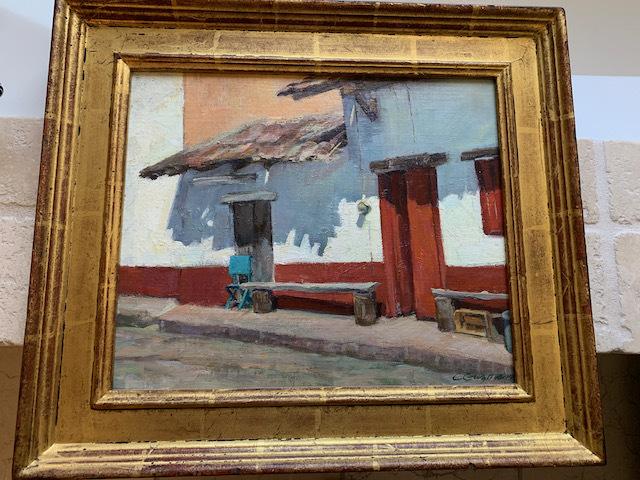 """Oil by Carol Guzman """"Blue Chair"""""""