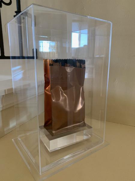 "Jerry McMillan Sculpture ""Copper Bag"""