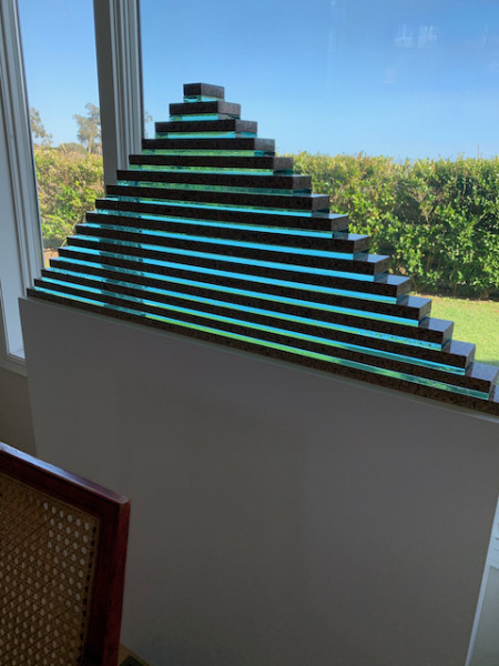Glass Pyramid Sculpture by George Guyer