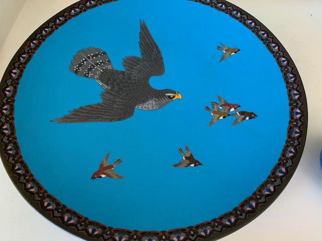 """Cloisonne """"Falcon"""" Plate"""