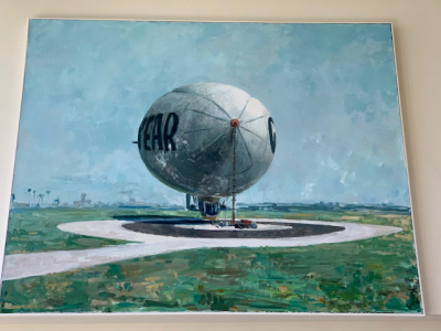 "Oil by Roger Kuntz ""the Goodyear Blimp"""