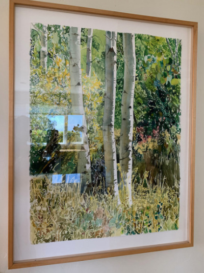 "Watercolor ""Birches"""