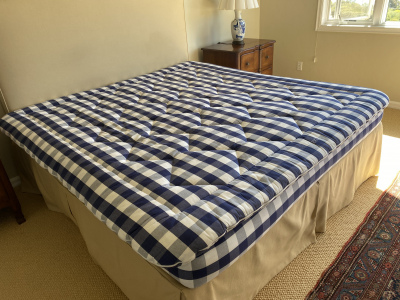 Upholstered Headboard ~ Matching Custom Bedskirt