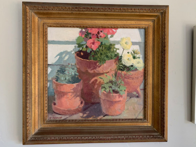 "Oil by Meredith Brooks Abbott ""Patio Pots"""