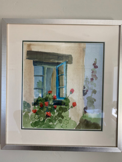"Watercolor by D.S. Kennedy ""Window"""