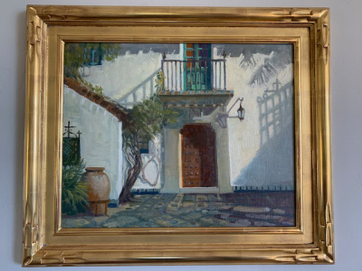 Oil by Meredith Brooks Abbott 'Entrance to Casa del Herrero""